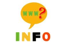 Informação redigida em letras plásticas coloridos Imagem de Stock