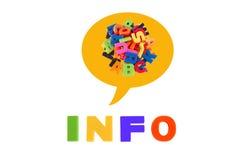 Informação redigida em letras plásticas coloridos. Imagem de Stock Royalty Free