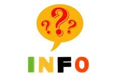 A informação redigida no plástico colorido caçoa letras Fotos de Stock Royalty Free
