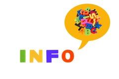 A informação redigida no plástico colorido caçoa letras Imagem de Stock
