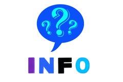 A informação redigida no plástico colorido caçoa letras Imagens de Stock Royalty Free