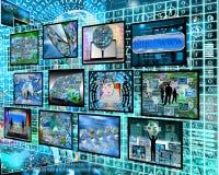 Informação sobre o código binário Foto de Stock
