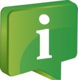Informação verde do ícone Imagens de Stock