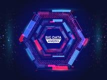 Informação visual do córrego de dados Estrutura abstrata do conection dos dados Complexidade futurista da informação Imagens de Stock