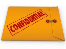 Información clasificada confidencial del secreto del sobre Fotos de archivo