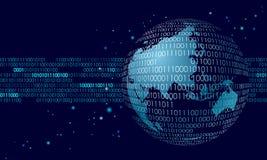 Información de conexión internacional global de intercambio de datos Diseño futuro moderno de las actividades bancarias de las fi ilustración del vector
