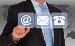 Información de contacto Imagen de archivo libre de regalías