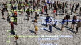 Información de datos grande Tecnología de seguridad informática Almacenamiento de datos de la nube Fondo abstracto de la tecnolog libre illustration