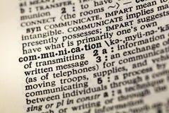 Información de la comunicación comunicar el diccionario fotos de archivo