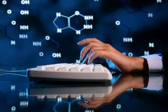 Información de la DNA Imagen de archivo libre de regalías