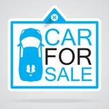 Información de la etiqueta del coche Imagenes de archivo