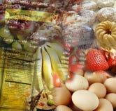 Información de la nutrición Fotografía de archivo
