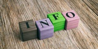 Información de la palabra sobre bloques de madera ilustración 3D libre illustration