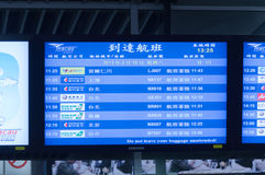 Información de la tarjeta de la salida del aeropuerto Imagenes de archivo