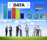 Información de las estadísticas del modelo del funcionamiento de la carta del Analytics de los datos Fotos de archivo libres de regalías
