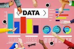 Información de las estadísticas del modelo del funcionamiento de la carta del Analytics de los datos Foto de archivo libre de regalías