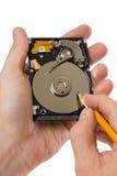 Información de registro sobre el disco duro foto de archivo libre de regalías