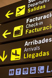 Información del aeropuerto Imagen de archivo libre de regalías