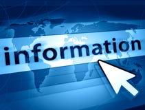 Información del mundo Imagen de archivo libre de regalías