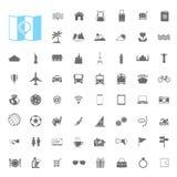 Información del viaje de los iconos Foto de archivo