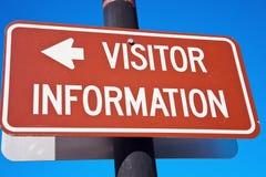 Información del visitante Fotografía de archivo
