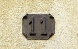 Información e indicación del número once Fotografía de archivo libre de regalías