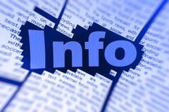 Información en línea Fotos de archivo