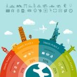 Información-gráficos del viaje Fotos de archivo