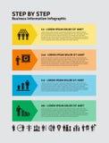 Información Infographic del negocio stock de ilustración