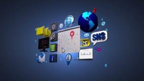 Información, medios tecnología social del servicio en red Mapa de la navegación