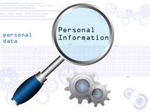 Información personal Imagen de archivo
