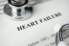 Información sobre paro cardíaco imagenes de archivo