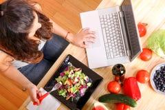 Información vegetariana Fotografía de archivo libre de regalías