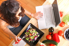 Información vegetariana Imagenes de archivo