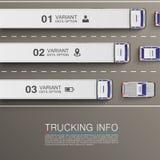Información del transporte de la carga Foto de archivo