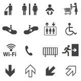 Informacj publicznych ikony ustawiać Fotografia Royalty Free
