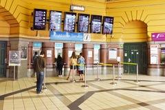 Informacja dla klienta Usługowy kontuar przy Flinders Uliczną stacją kolejową, Melbourne Obrazy Royalty Free