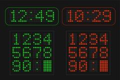 Informacja stół z cyfrowymi dowodzonymi liczbami Obraz Royalty Free