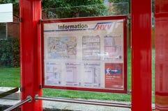 Informacja stojak hamburger Zdjęcie Royalty Free
