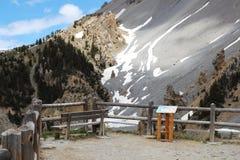 Informacja w losu angeles Casse déserte, Queyras Naturalny park, Francja obrazy stock