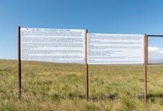Informacja wsiada przy punktem widzenia Sterkfontein tama Fotografia Stock