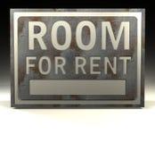 informacje czynsz znak pokoju Zdjęcia Royalty Free