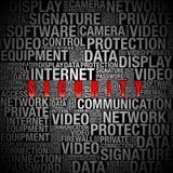 Informacje nt. bezpieczeństwa w słowo kolażu Obraz Royalty Free