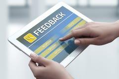 Informacje zwrotne ilości opinii usługa komunikaci Biznesowy pojęcie Obraz Royalty Free
