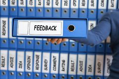 Informacje zwrotne pojęcie Informacje zwrotne ilości opinii Biznesowa usługa Obrazy Stock