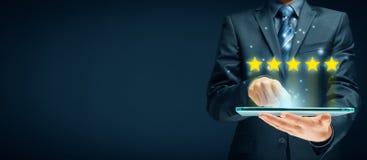 Informacje zwrotne, przegląd i ratingowi pojęcia, obrazy royalty free