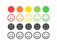 Informacje zwrotne wektoru pojęcie Kategoria, poziom satysfakci ocena Znakomity, dobry, normalny, zły okropny, Informacje zwrotne ilustracja wektor