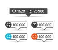 Informador diferentes da Web Quadros com ícones ilustração royalty free