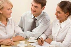 Informal business meeting royalty free stock photo