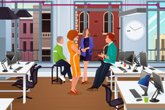 Informal Business Meeting in the Office Stock Image